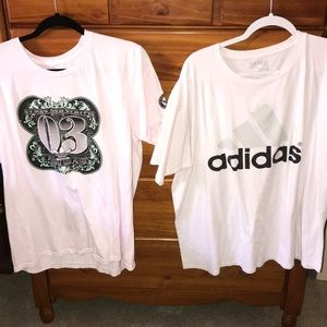 Adidas Shirt Lot of 2 Money & Adidas Logo Size XL